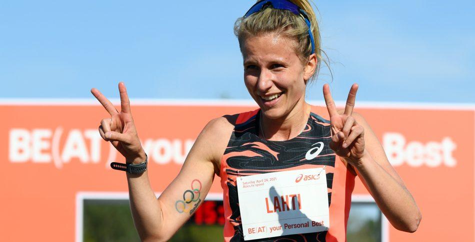 Sara Lahti sätter nytt svenskt rekord på 5 kilometer